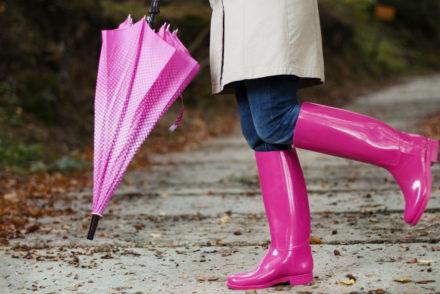 Модные резиновые сапоги и зонты – сюрприз для непогоды!